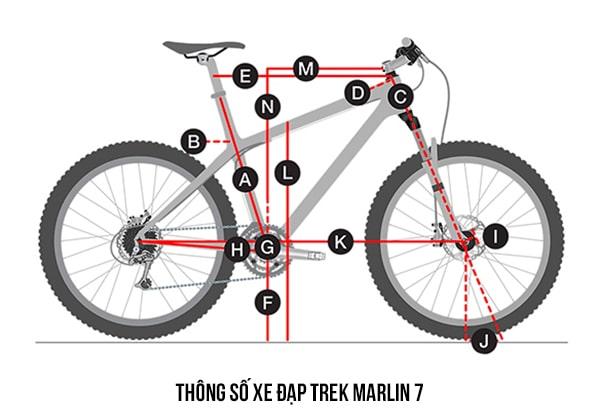 thống số kỹ thuật Xe đạp trek marlin 7