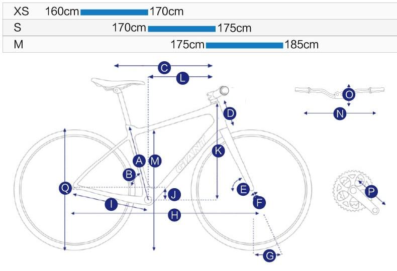 chi tiết thiết kế xe đạp giant escape 1 2020