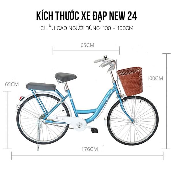 thông số kỹ thuật xe đạp thống nhất new 24