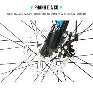 hệ thống phanh đĩa cơ trên Xe đạp galaxy ml200