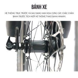 trục xe và bánh Xe đạp galaxy ml200