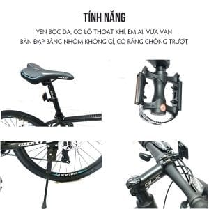 yên xe và bàn đạp trên Xe đạp galaxy ml200