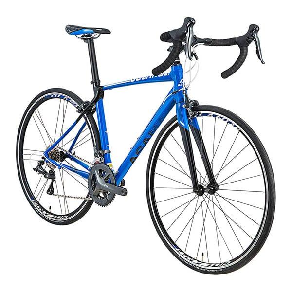 chụp nghiêng xe đạp đua asama solano factory màu xanh dương