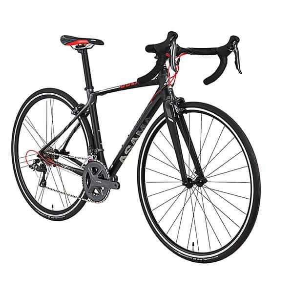 chụp nghiêng xe đạp đua asama solano factory màu đen