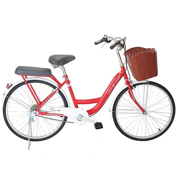xe đạp thống nhất new 24 màu đỏ