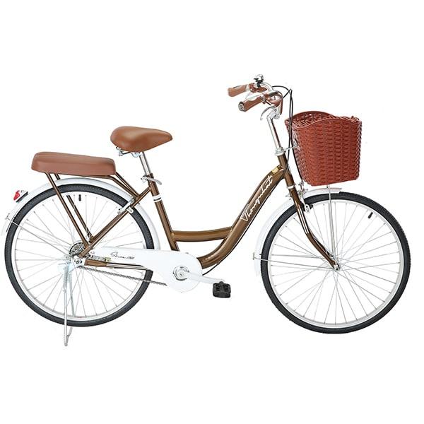 xe đạp thống nhất new 24 màu nâu socola