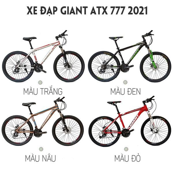 4 màu sắc cơ bản xe đạp giant atx 777
