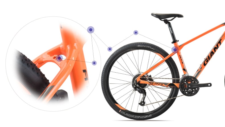 thanh gắn chắn bùn xe đạp giant atx 830