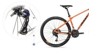 hệ thống truyền động xe đạp giant atx 830