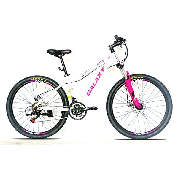 xe đạp galaxy ml150 màu trắng hồng