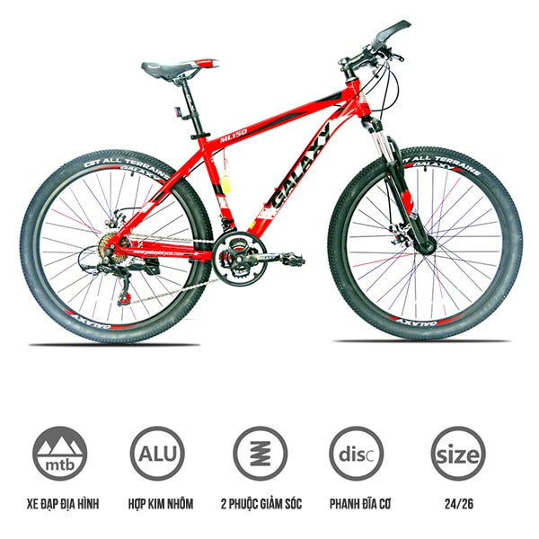 xe đạp galaxy ml150 màu đỏ