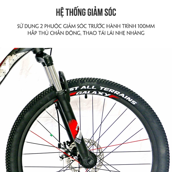Hệ thống giảm sóc xe đạp galaxy ml150