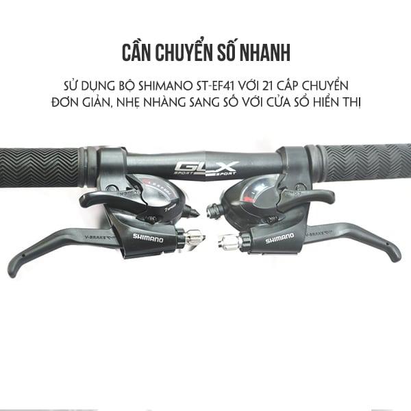 tay lái với nẫy chuyển số xe đạp galaxy ml150