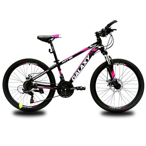 xe đạp galaxy mt16 màu đen hồng