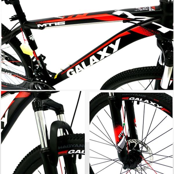 Khung sườn và giảm sóc xe đạp galaxy mt16