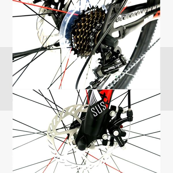 dĩa sau và phanh đĩa xe đạp galaxy mt16