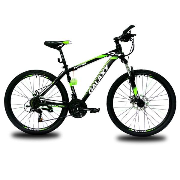 xe đạp galaxy mt16 màu đen xanh lá