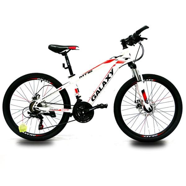 xe đạp galaxy mt16 màu trắng đỏ