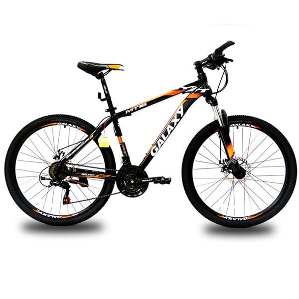 xe đạp galaxy mt16 màu đen cam