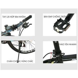 tay lái, bàn đạp, chân chống xe đạp galaxy rl200