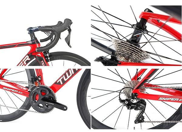 Hệ thống truyền động chuẩn xe đua trên xe đạp twitter sniper 2.0