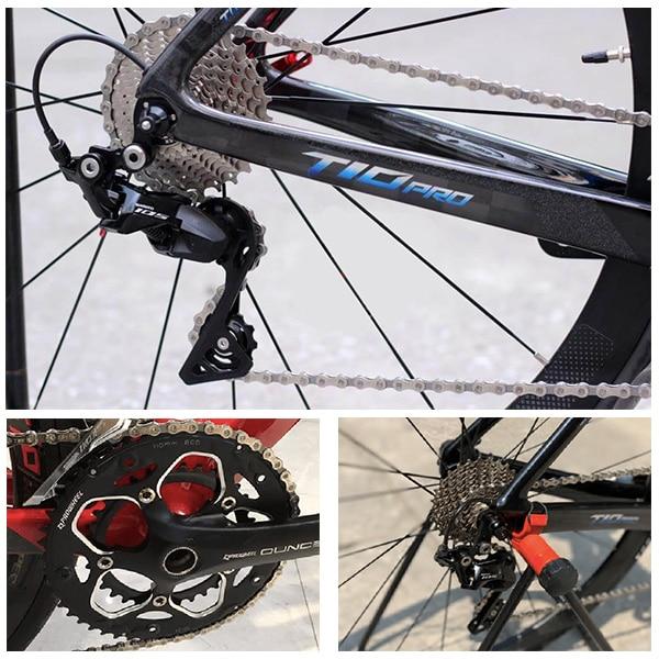 Hệ thống truyền động cao cấp trên xe đạp đua twitter t10 pro
