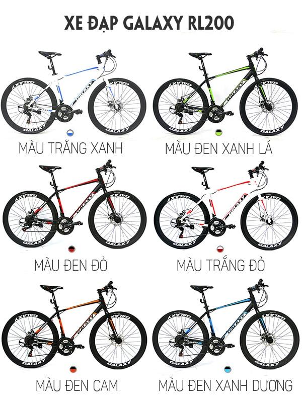 9 màu sắc trên xe đạp galaxy rl200