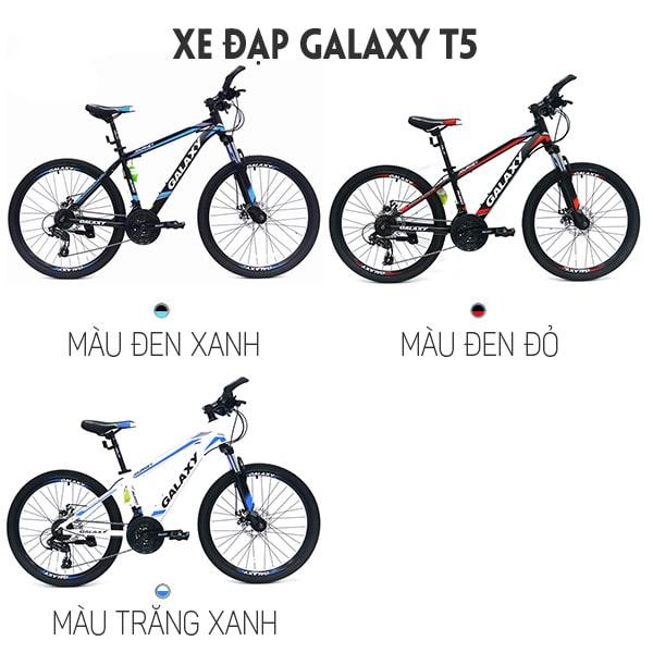 3 Màu sắc xe đạp galaxy t5