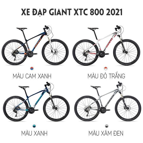 4 màu sắc xe đạp giant xtc 800 2021