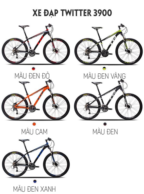 5 màu sắc xe đạp twitter 3900xc