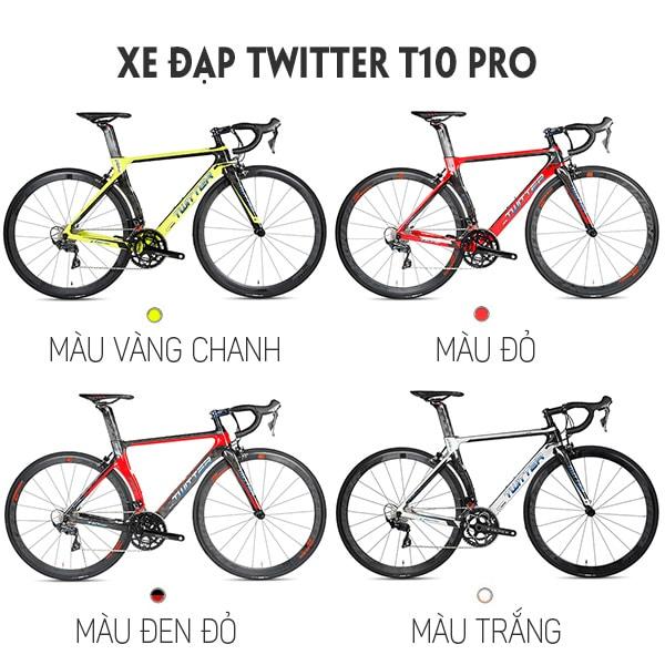 4 màu sắc trên xe đạp twitter t10 pro