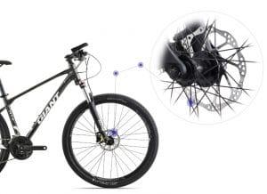 phanh đĩa cơ xe đạp giant atx 860