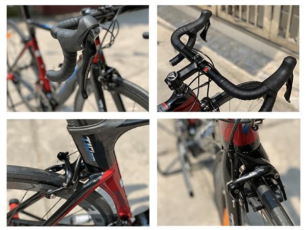 tay lái và phanh trên xe đạp twtter t10 pro
