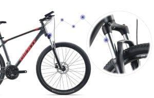 hệ thống giảm sóc 2 phuộc xe đạp giant atx 810