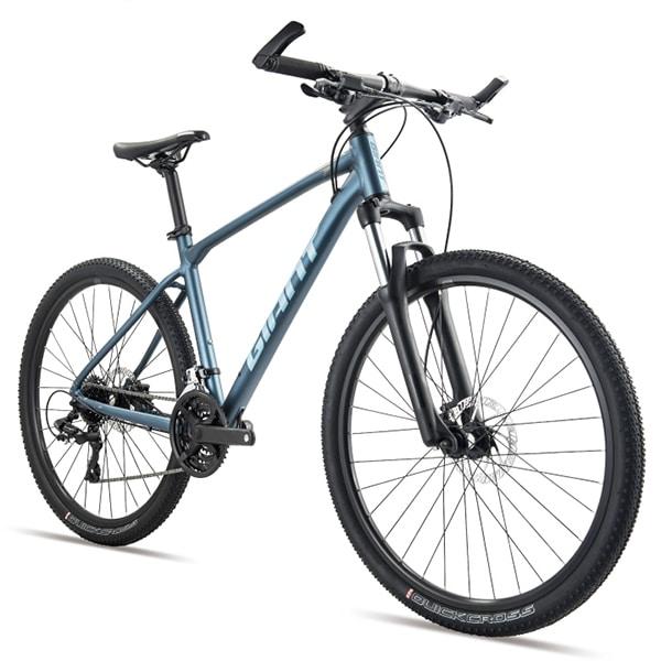 xe đạp giant atx 810 màu xanh chụp nghiêng