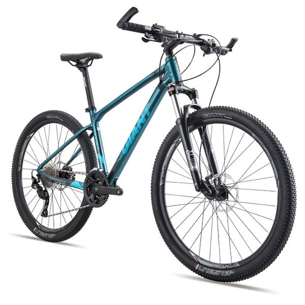 xe đạp giant atx 860 màu xanh chụp nghiêng
