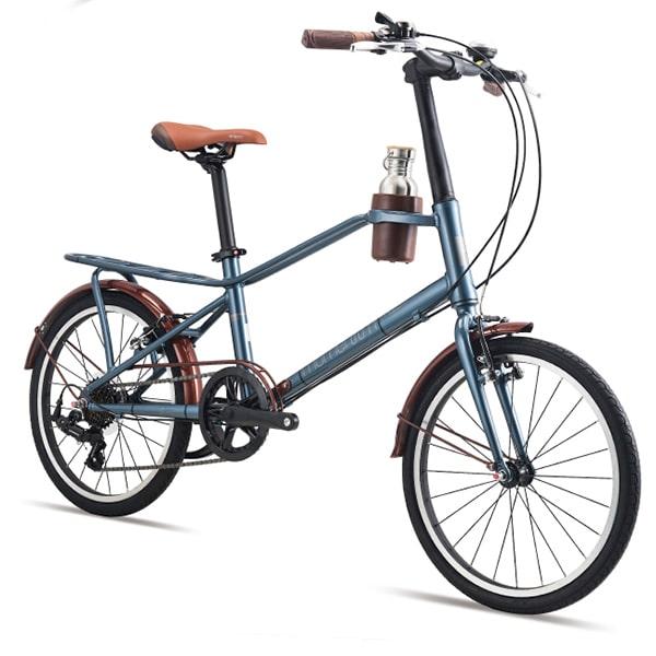 xe đạp giant momentum iNeed Espresso màu xanh đen chụp nghiêng