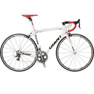 xe đạp giant ocr 5300 màu trắng đỏ