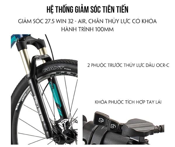 Hệ thống giảm sóc xe đạp giant xtc 800