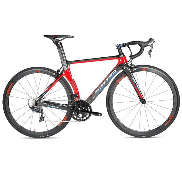 xe đạp twitter t10 pro màu ghi đỏ