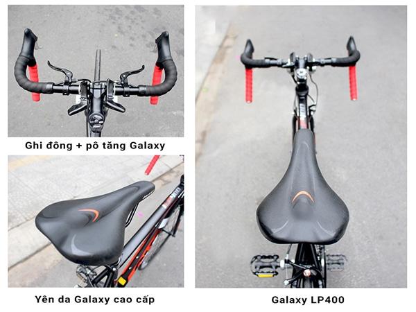 Ghi đông, yên trên xe đạp galaxy lp400