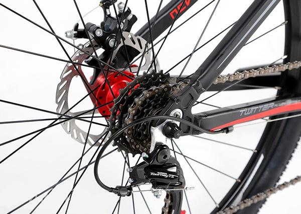 Hệ thống phanh đĩa cơ trên xe đạp twitter 3000