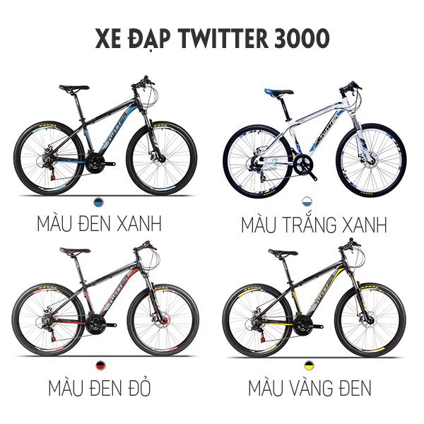 4 màu sắc xe đạp twitter 3000