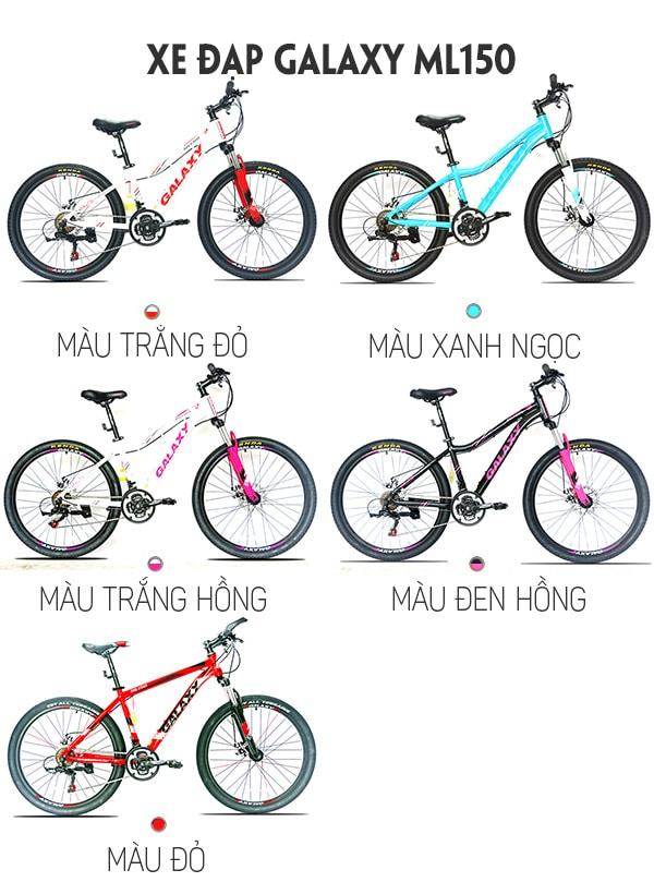 Màu sắc xe đạp galaxy ml150