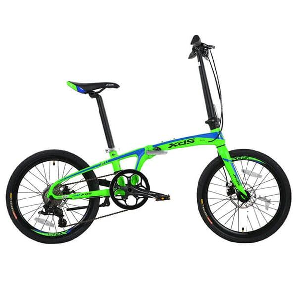 Xe đạp gấp galaxy k3 màu xanh lá