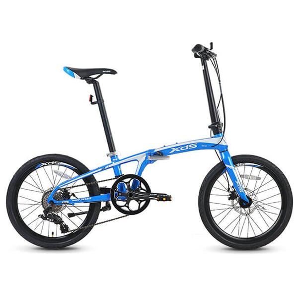 Xe đạp gấp galaxy k3 màu xanh dương