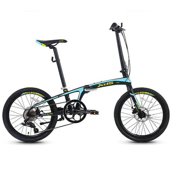 Xe đạp gấp galaxy k3 màu xanh đen