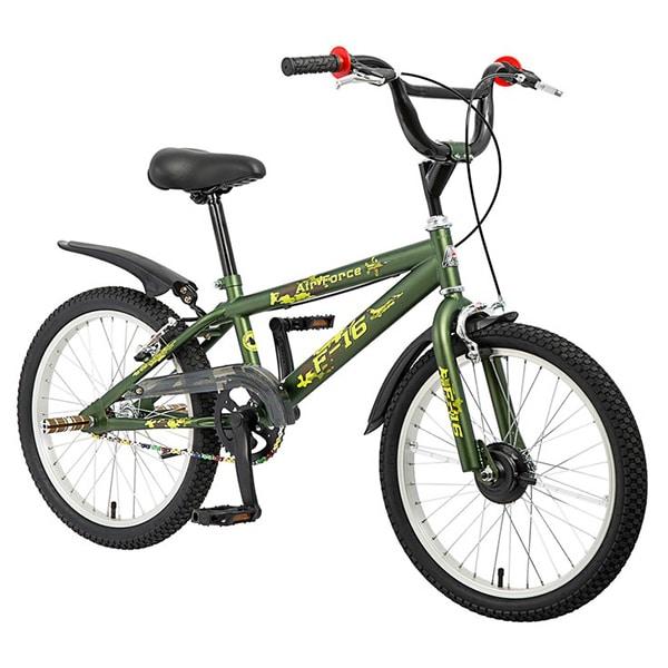 Xe đạp trẻ em asama amt 01 màu xanh rêu chụp nghiêng