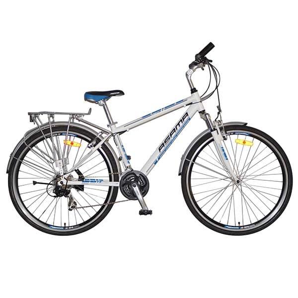xe đạp asama cross lx màu trắng xanh