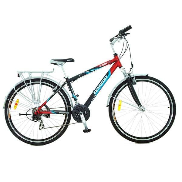 xe đạp asama cross lx màu đỏ đen